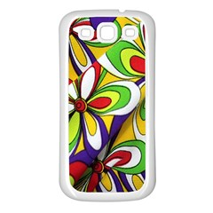 Colorful Textile Background Samsung Galaxy S3 Back Case (White)