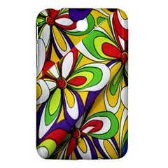Colorful Textile Background Samsung Galaxy Tab 3 (7 ) P3200 Hardshell Case