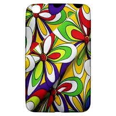 Colorful Textile Background Samsung Galaxy Tab 3 (8 ) T3100 Hardshell Case