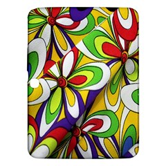 Colorful Textile Background Samsung Galaxy Tab 3 (10 1 ) P5200 Hardshell Case