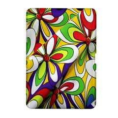 Colorful Textile Background Samsung Galaxy Tab 2 (10.1 ) P5100 Hardshell Case