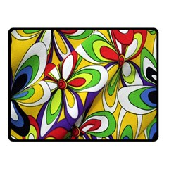 Colorful Textile Background Double Sided Fleece Blanket (Small)