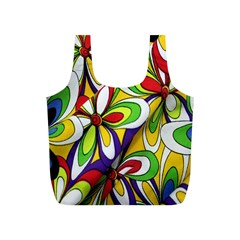 Colorful Textile Background Full Print Recycle Bags (s)