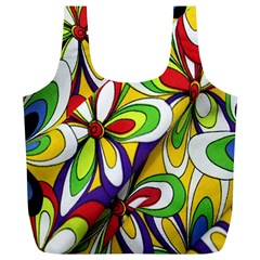 Colorful Textile Background Full Print Recycle Bags (L)