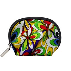 Colorful Textile Background Accessory Pouches (Small)
