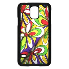 Colorful Textile Background Samsung Galaxy S5 Case (Black)