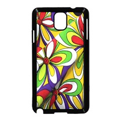 Colorful Textile Background Samsung Galaxy Note 3 Neo Hardshell Case (Black)