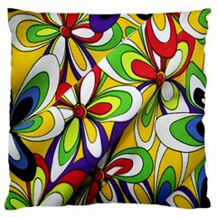 Colorful Textile Background Large Flano Cushion Case (One Side)