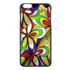Colorful Textile Background Apple iPhone 6 Plus/6S Plus Black Enamel Case