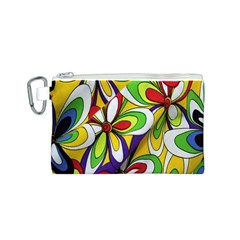 Colorful Textile Background Canvas Cosmetic Bag (S)