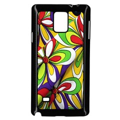 Colorful Textile Background Samsung Galaxy Note 4 Case (Black)