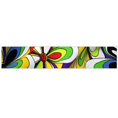 Colorful Textile Background Flano Scarf (Large)