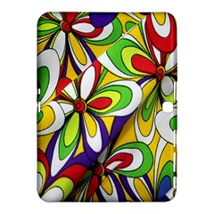 Colorful Textile Background Samsung Galaxy Tab 4 (10.1 ) Hardshell Case