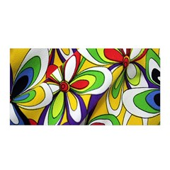 Colorful Textile Background Satin Wrap