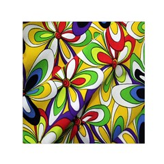 Colorful Textile Background Small Satin Scarf (square)
