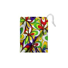 Colorful Textile Background Drawstring Pouches (xs)