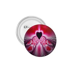 Illuminated Red Hear Red Heart Background With Light Effects 1.75  Buttons