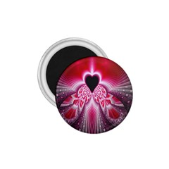 Illuminated Red Hear Red Heart Background With Light Effects 1 75  Magnets