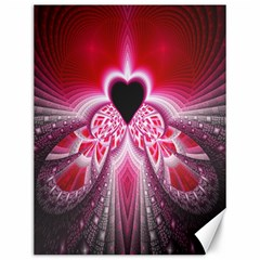 Illuminated Red Hear Red Heart Background With Light Effects Canvas 12  x 16