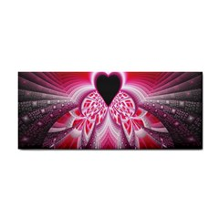 Illuminated Red Hear Red Heart Background With Light Effects Cosmetic Storage Cases