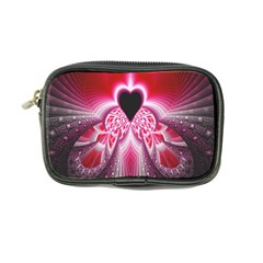 Illuminated Red Hear Red Heart Background With Light Effects Coin Purse