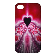 Illuminated Red Hear Red Heart Background With Light Effects Apple iPhone 4/4S Hardshell Case