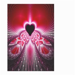 Illuminated Red Hear Red Heart Background With Light Effects Small Garden Flag (Two Sides)