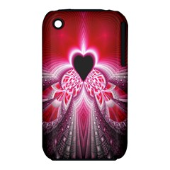 Illuminated Red Hear Red Heart Background With Light Effects Iphone 3s/3gs