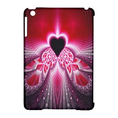 Illuminated Red Hear Red Heart Background With Light Effects Apple iPad Mini Hardshell Case (Compatible with Smart Cover)
