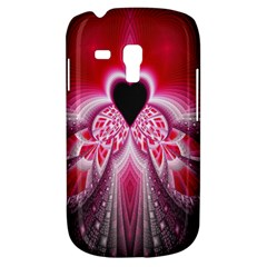 Illuminated Red Hear Red Heart Background With Light Effects Galaxy S3 Mini