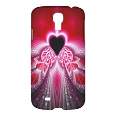 Illuminated Red Hear Red Heart Background With Light Effects Samsung Galaxy S4 I9500/I9505 Hardshell Case