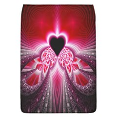 Illuminated Red Hear Red Heart Background With Light Effects Flap Covers (L)