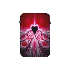 Illuminated Red Hear Red Heart Background With Light Effects Apple iPad Mini Protective Soft Cases