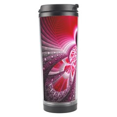 Illuminated Red Hear Red Heart Background With Light Effects Travel Tumbler