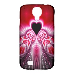 Illuminated Red Hear Red Heart Background With Light Effects Samsung Galaxy S4 Classic Hardshell Case (PC+Silicone)
