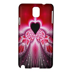 Illuminated Red Hear Red Heart Background With Light Effects Samsung Galaxy Note 3 N9005 Hardshell Case