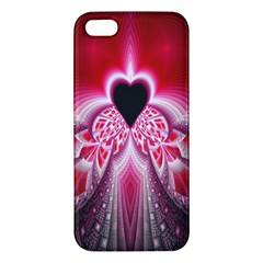 Illuminated Red Hear Red Heart Background With Light Effects iPhone 5S/ SE Premium Hardshell Case