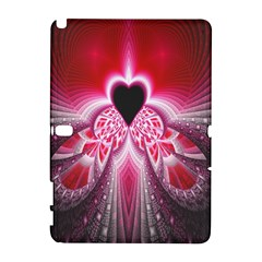 Illuminated Red Hear Red Heart Background With Light Effects Galaxy Note 1
