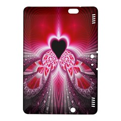 Illuminated Red Hear Red Heart Background With Light Effects Kindle Fire HDX 8.9  Hardshell Case
