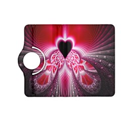 Illuminated Red Hear Red Heart Background With Light Effects Kindle Fire HD (2013) Flip 360 Case