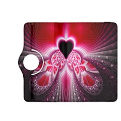 Illuminated Red Hear Red Heart Background With Light Effects Kindle Fire Hdx 8 9  Flip 360 Case