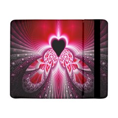 Illuminated Red Hear Red Heart Background With Light Effects Samsung Galaxy Tab Pro 8.4  Flip Case