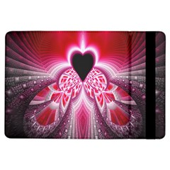 Illuminated Red Hear Red Heart Background With Light Effects iPad Air Flip