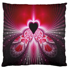 Illuminated Red Hear Red Heart Background With Light Effects Standard Flano Cushion Case (Two Sides)