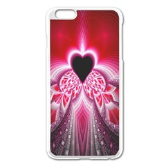 Illuminated Red Hear Red Heart Background With Light Effects Apple iPhone 6 Plus/6S Plus Enamel White Case