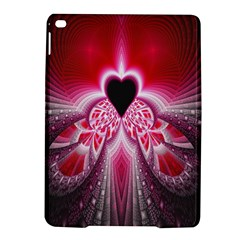Illuminated Red Hear Red Heart Background With Light Effects iPad Air 2 Hardshell Cases