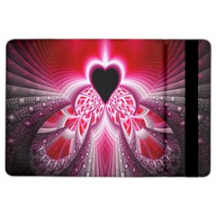 Illuminated Red Hear Red Heart Background With Light Effects iPad Air 2 Flip