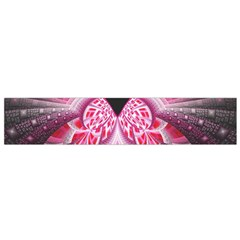 Illuminated Red Hear Red Heart Background With Light Effects Flano Scarf (small)