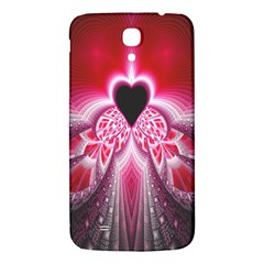 Illuminated Red Hear Red Heart Background With Light Effects Samsung Galaxy Mega I9200 Hardshell Back Case