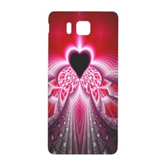 Illuminated Red Hear Red Heart Background With Light Effects Samsung Galaxy Alpha Hardshell Back Case